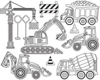 Construction Boys Clipart Vector