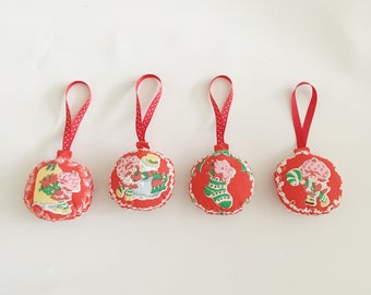 Strawberry Shortcake Vintage Ornaments/ Christmas ornaments