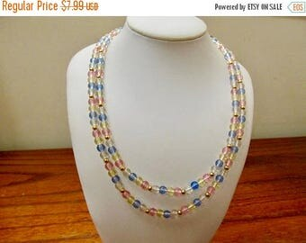 On Sale MONET Pastel Plastic Beaded Necklace Item K # 746