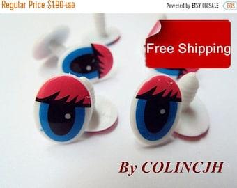 On Sale Toy Eyes Cartoon Eyes Safety Eyes Animal Eyes Craft Eyes Plastic Eyes(10 pair,style3)