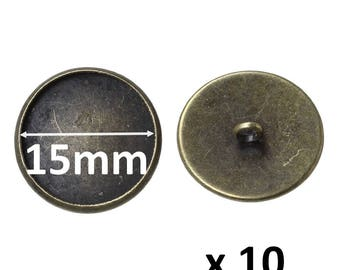 10 supports bronze 15mm buttons