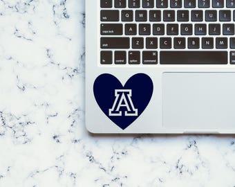 University of Arizona Decal-Arizona Decal-University of Arizona Sticker-Yeti Decal-Laptop Decal-Car Decal-Hydroflask Sticker-Vinyl Decal