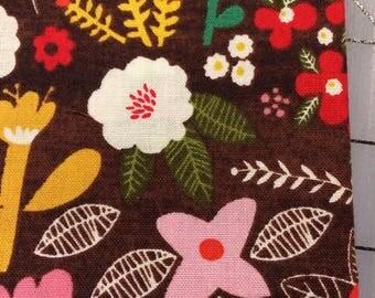 Organic Petit Fleur- FAT QUARTER cut of Swallow Garden in Brown by Carolyn Gavin - Organic Cotton  - 39521