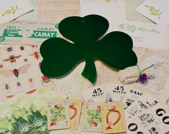 Vintage Green Ephemera Pack for St Patricks Day to Use with Planner / Snail Mail / Smash Book
