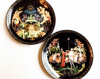 Russian Legends Tianex Series Bradford Exchange Collectible Wall Plates, Set of 2, Series #5 and #7