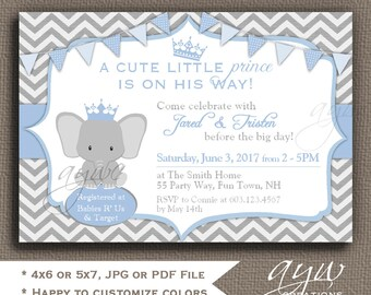 Elephant Baby Shower Invitations Boys Elephant Baby Shower Invitation Printable Invitation Printable Baby Shower Elephant Invites Boy