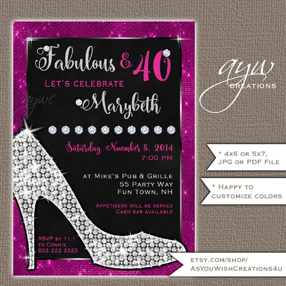 40th birthday party invitations for women high heels birthday il570xn filmwisefo