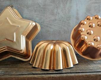 Copper Colored Aluminum Mold Set