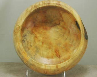 Beatiful Box Elder Burl Bowl with a food safe finish.