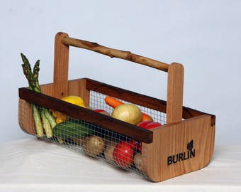 Gardening Basket, Farmhouse Decor, Harvesting Basket ,Picnic Basket, Storage Basket, Large Basket