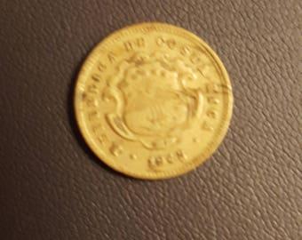 1943 Costa Rica 10 Centimos