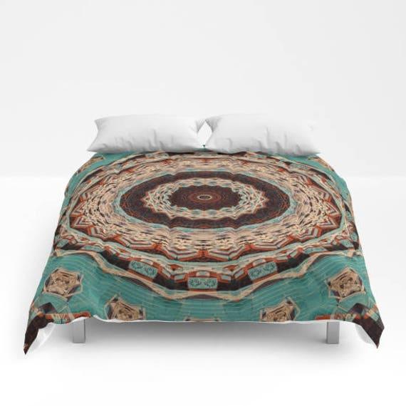 Comforter, Southwest Mandala, Bedspread, Abstract Art, Photography, King Bedding, Queen Bedding