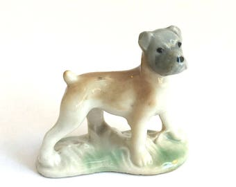 Wade Whimsie: Boxer Dog from the First Whimsie collection 1957/61 - Wade Boxer - Whimsie Boxer - Wade Whimsies - Wade Figurines - Wades