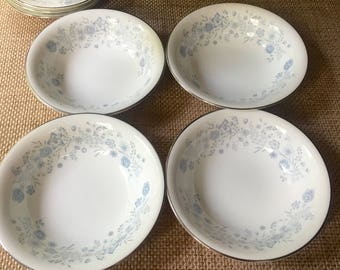 Set of 4 Wedgwood Belle Fleur Cuop Cereal Bowls