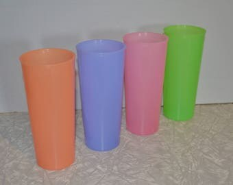Vintage Tupperware Tumbler Set of 4 ~ Vintage Tupperware