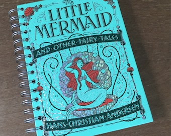 The Little Mermaid and Other Fairy Tales // Leatherbound  // Recycled Journal Notebook
