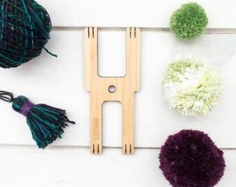 Pom Pom Maker | The Loome Tool for making Pom Poms, Tassels, Friendship Bracelets, Small Weavings, Cording - ROBOT