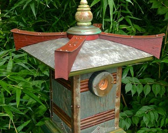 RESERVED for Judy: Pagoda, Asian-Inspired Birdhouse