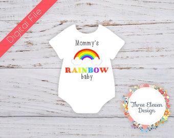 Rainbow Baby Printable Iron On