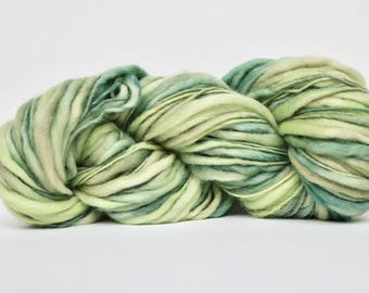 Thick and Thin Yarn, Wool Yarn,  Temptation Tweed Yarn,  Worsted Yarn, Aran Weight yarn, Blanket Yarn, Sea Green