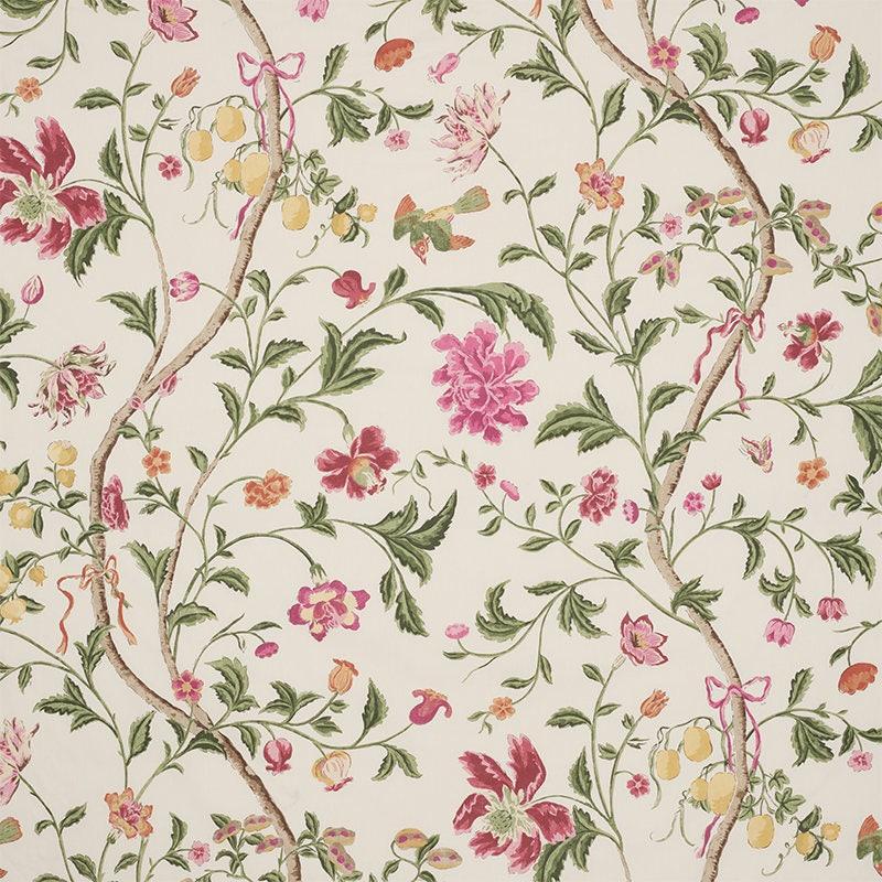 Schumacher Chinoiserie Floral Birds Cotton Chintz Fabric 10