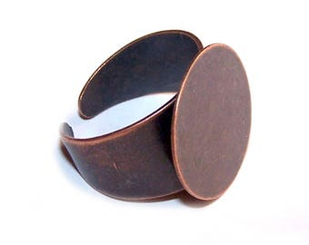 A ring tray 18 mm wide ring adjustable stand BRONZE