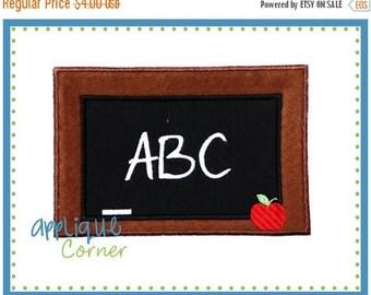 50% Off 020 School Chalkboard ABC applique digital design for embroidery machine by Applique Corner