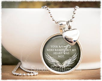 Urn Necklace • Your Wings Were Ready • Cremation Jewelry • Ashes Necklace • Loss Of Loved One •  Memorial Jewelry