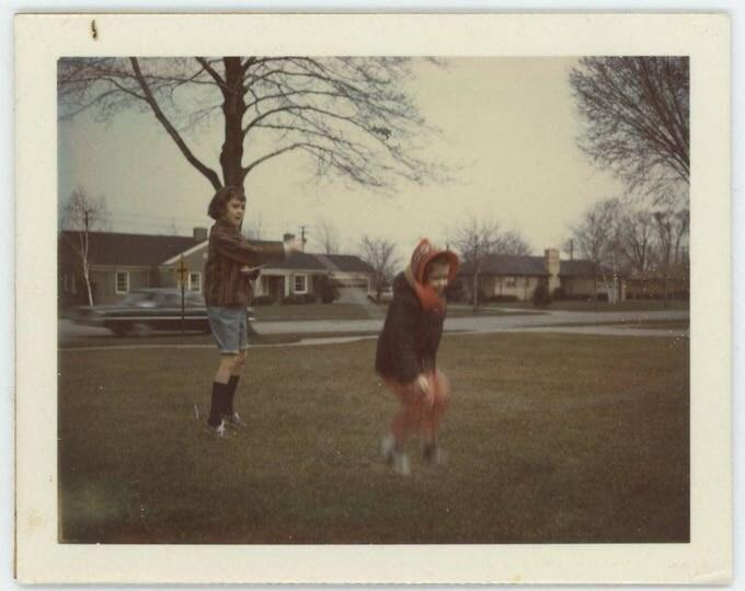 Vintage Polaroid Land Type Photo: Jump Rope, 1966 [82652]