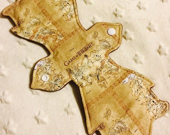 "12"" Moderate Absorbency - game of thrones map"