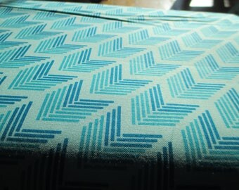 Quilting Weight Cotton Fabric Bright Sun Canyon in aqua by Sherri and Chelsi for Moda 1 yard