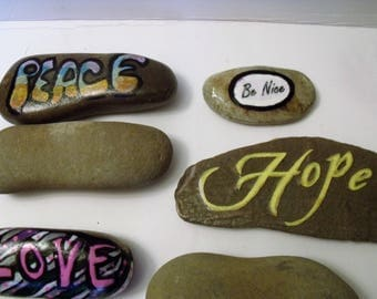 Stones, Rocks, Perfect For Painting Quotes, Affirmation and Words of Encouragement