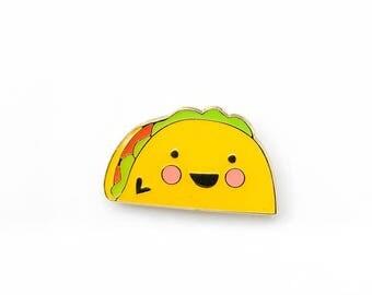 JUNK FOOD | Cute Taco Enamel Lapel Pin