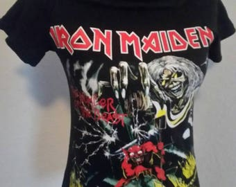 Iron maiden ladies band shirt size S/M