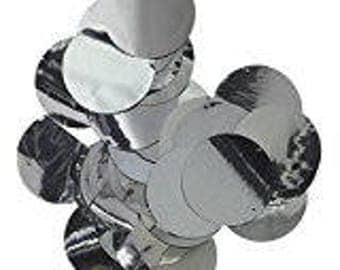 SILVER METALLIC CONFETTI / 1000pc. Tissue Foil Confetti / Wedding Confetti / Engagement Photo Confetti / Table Decor / Balloon Confetti