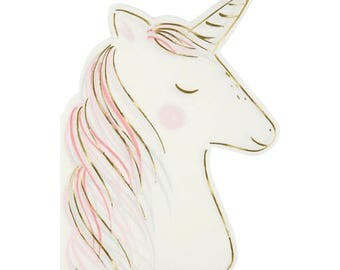 Unicorn Napkins- Party Decor - Magical - Fairytale- Tableware - Spring - Summer, Pink, Pastel, Gold, Meri Meri, Birthday, Children's Parties