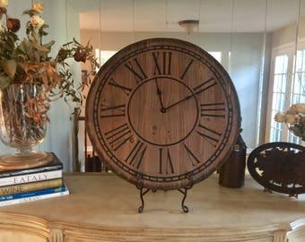 """Rustic Primitive Large 24"""" Farmhouse Clock"""