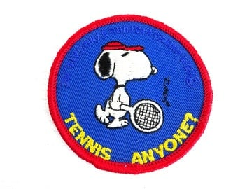 Vintage Charles Schultz Peanuts Snoopy Tennis Anyone Patch
