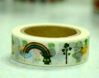 1 Roll of Japanese Washi Masking Paper Tape- Birdie Park