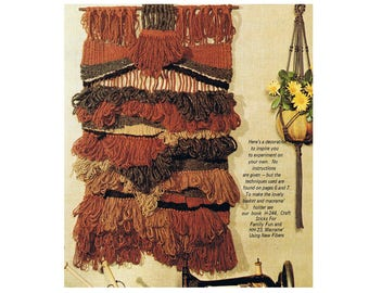 Easy to Weave Wall Decorations Instruction Booklet - Using Wool, Jute, Cotton and Silk Fibers Digital E Book Instant Download