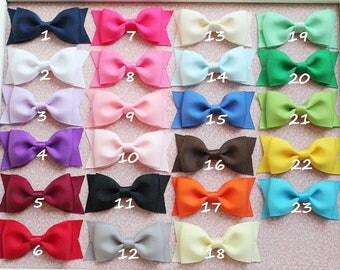 Girls hair bows - set of 5 - toddler, little girls hair bows - Tuxedo hair bows -  Birthday gift - 1.00 hair bows - You can choose colors