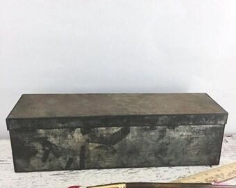 SUMMER SALE Vintage Metal Storage Box