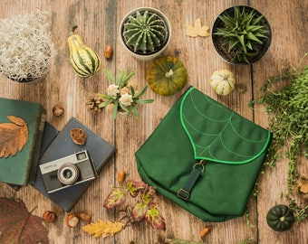 Make Your Own Leaf Mini Backpack, Woman's Backpack, Waterproof Backpack, Personalized Bag for Woman, Kid backpack, Vegan Small Rucksack