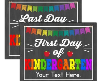 First Day of Kindergarten Sign, INSTANT DOWNLOAD and EDITABLE