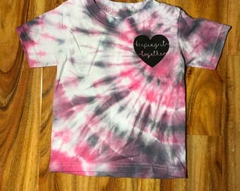 Unique hand dyed Keeping it Together shirt. Size 2-3T.