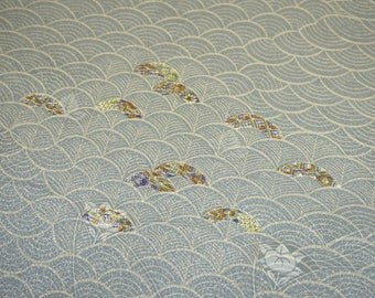 Seigaiha Vintage Japanese jinken kimono fabric