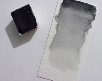 Black Graphite - Handmade Watercolor Paint
