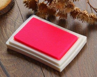 Craft Ink Pad - Stamp Inkpad - Waterproof Stamp Ink Oil on Paper Wood Fabric - Pink