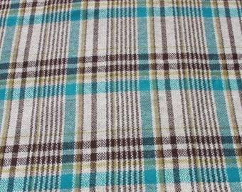 Plaid Wool Fabric Etsy