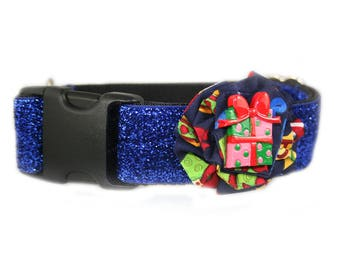 Festive Holiday Flower Accessory for Dog Collar